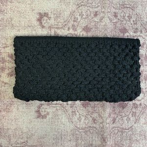 Handbags - Black Macrame Clutch | Homemade